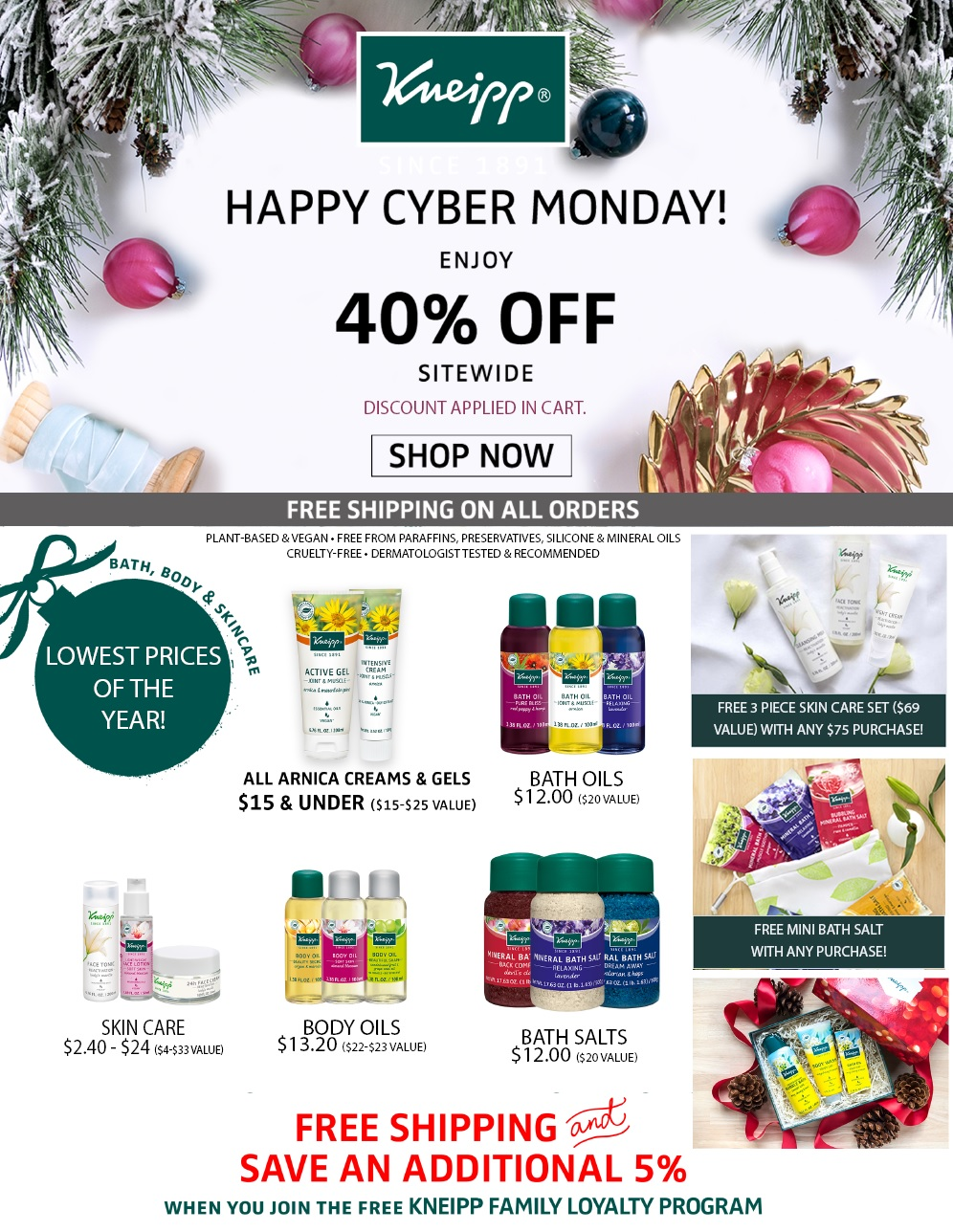 Kneipp Cyber Monday page 1